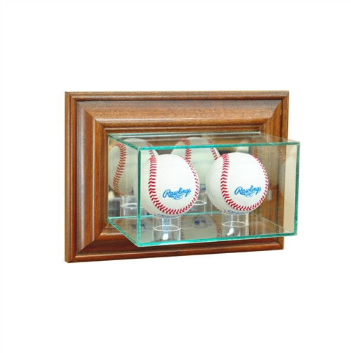 Wall Mounted Double Baseball Display Case