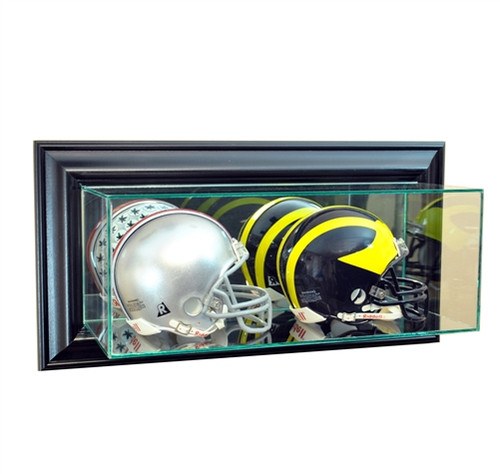 Wall Mounted Double Mini Helmet Display Case