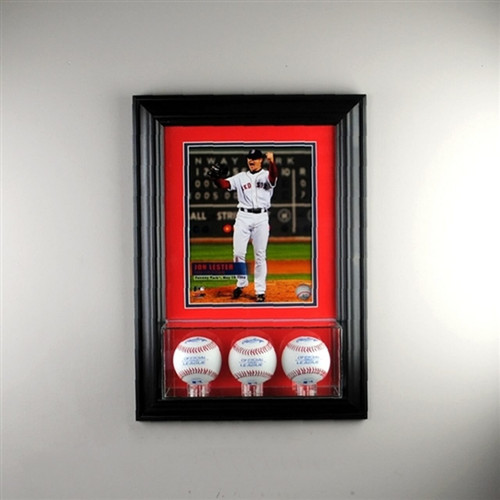 Wall Mounted Triple Baseball 8 x 10