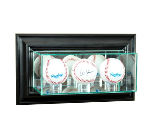 Wall Mounted Triple Baseball Display Case