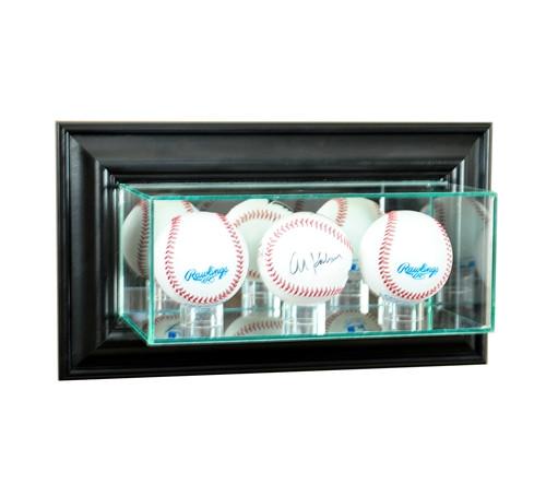 Wall Mounted Triple Baseball Display Case