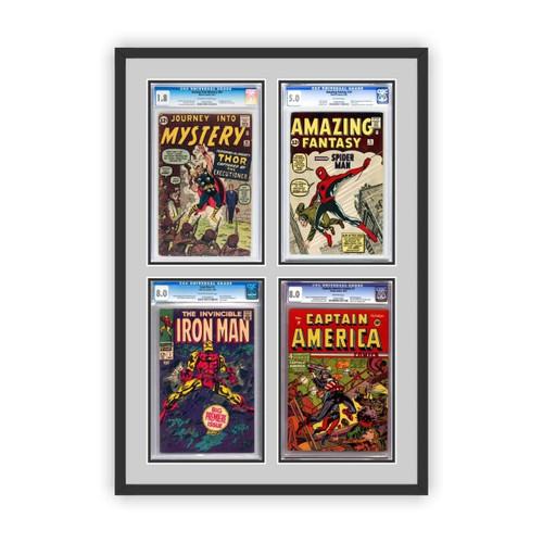 Quad Four Graded Comic Book Frame