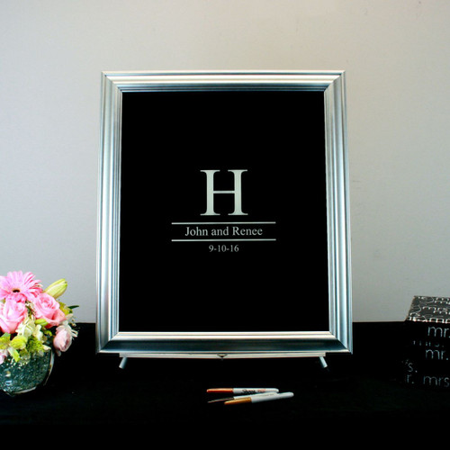 Painted Glass Signature Wedding Frame
