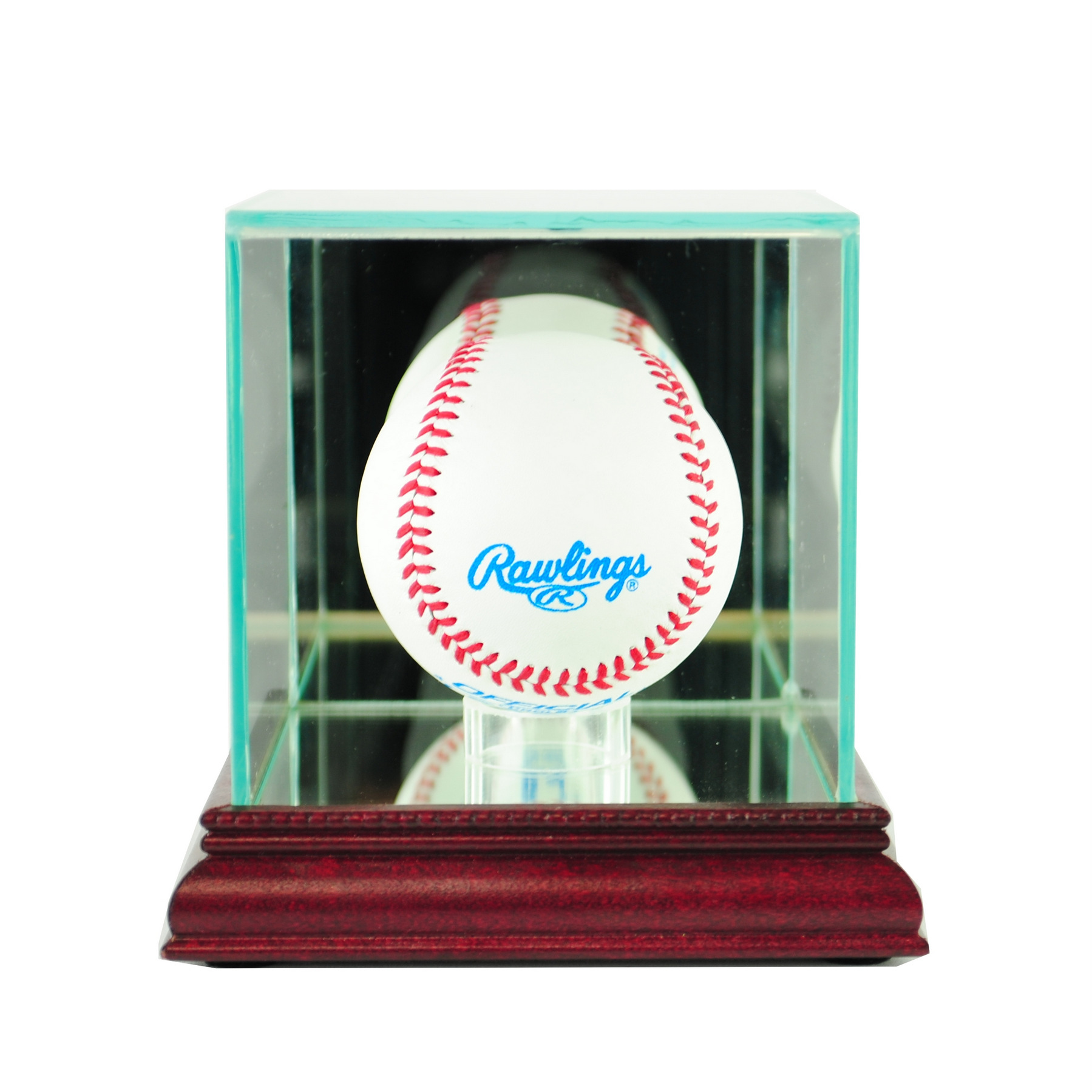Autographs-original Baseball/football/hockey/basketball Jersey Full Size Display Case Mahogany Perfect In Workmanship Display Cases
