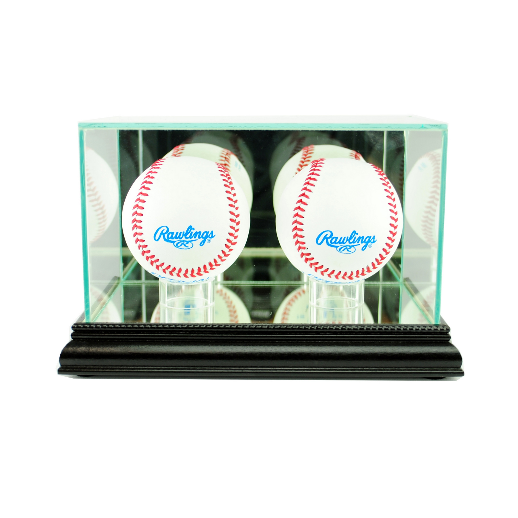Autographs-original Baseball/football/hockey/basketball Jersey Full Size Display Case Mahogany Perfect In Workmanship