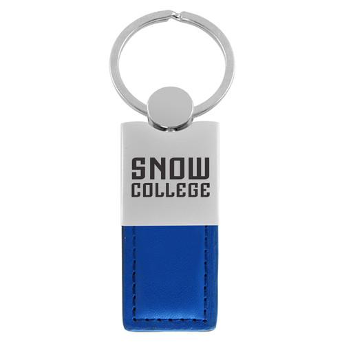 LEATHER SNOW KEY TAG