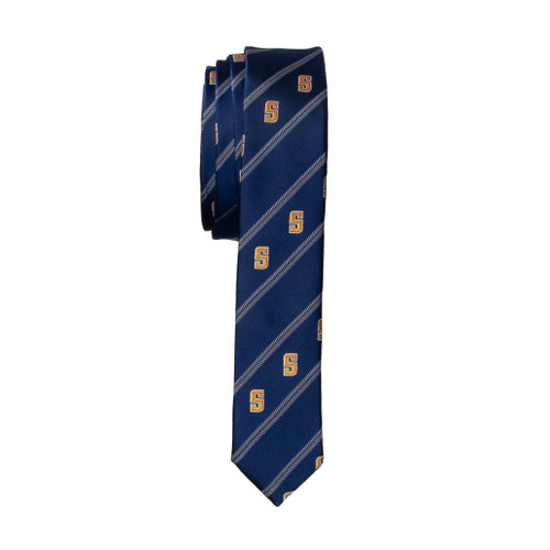 SKINNY WOVEN POLY TIE
