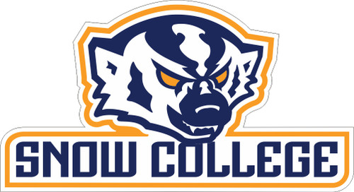 SNOW COLLEGE BADGER DECAL SC030