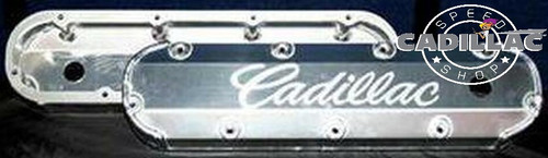 "CADILLAC 472 500 3/8"" BILLET RAIL FABRICATED ALUMINUM VALVE COVERS-BL74"