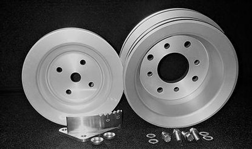 CADILLAC 472 500 CUSTOM BILLET PULLEY SET W/ TIMING MARKER-BL57