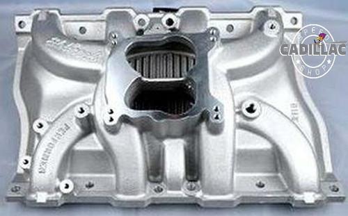 Cadillac 472/500  Edelbrock Performer aluminum intake manifold,