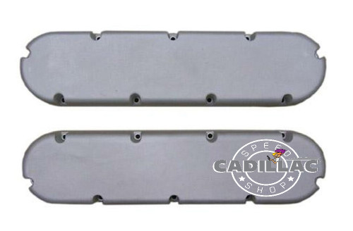 "CADILLAC 472 500 FLAT TOP STYLE VALVE COVERS-472/500 ""NON-SCRIPTED"" AS-CAST ONLY-BL75"