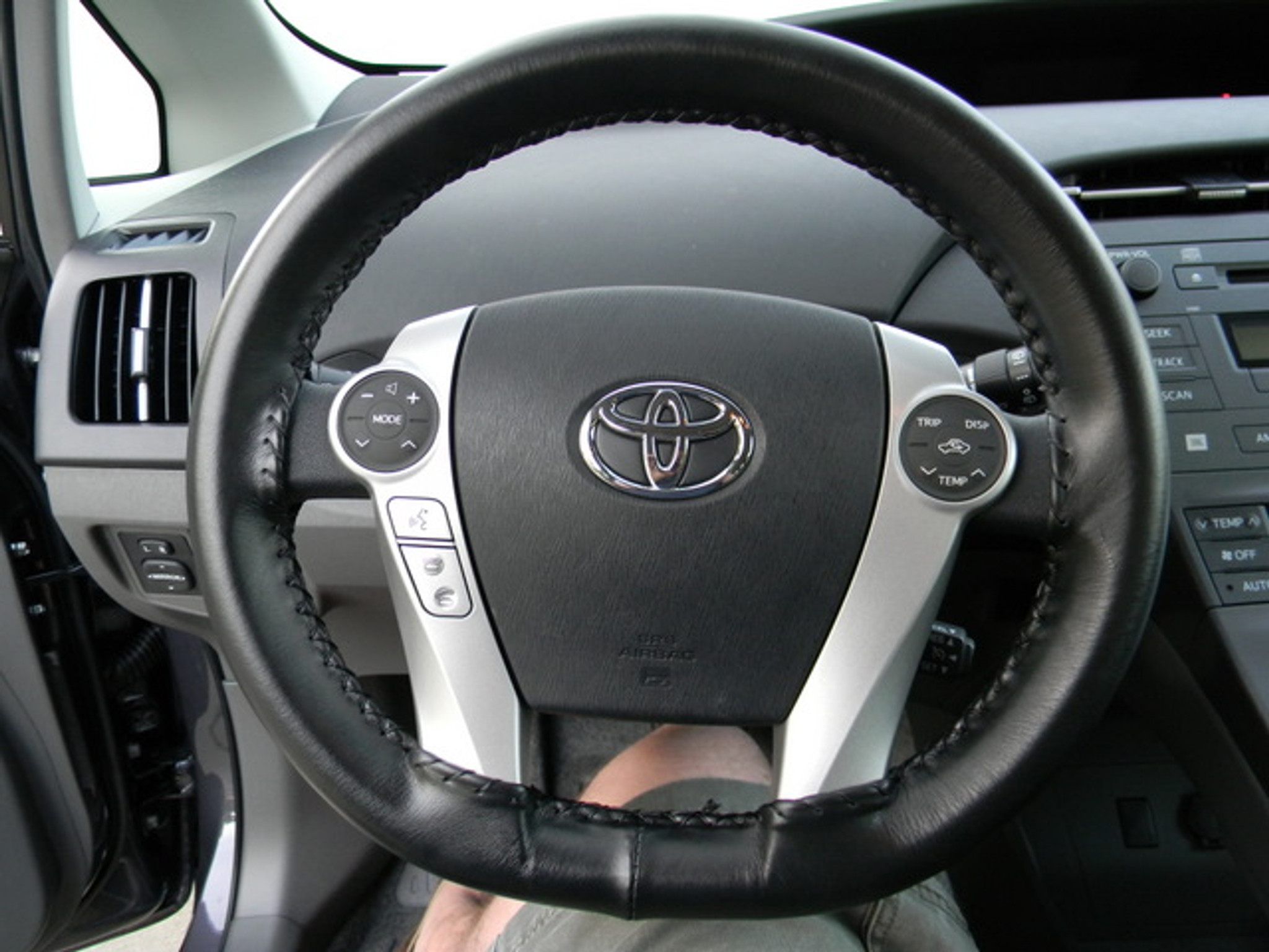 genuine leather steering wheel cover for 2012 2014 toyota prius c by
