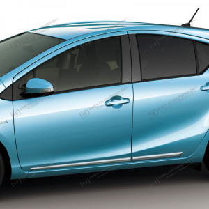 Toyota Prius c Chrome Lower Body Side Molding 2012 - 2018