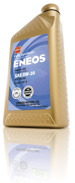 ENEOS Fully Synthetic Motor Oil 0W-20 - 1 Quart Bottle, (Case of 6)