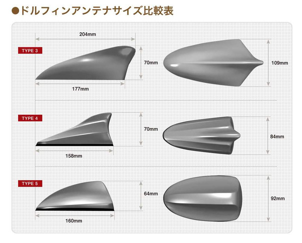 Beat-Sonic Shark Fin Antenna for 2010-2015 Toyota Prius