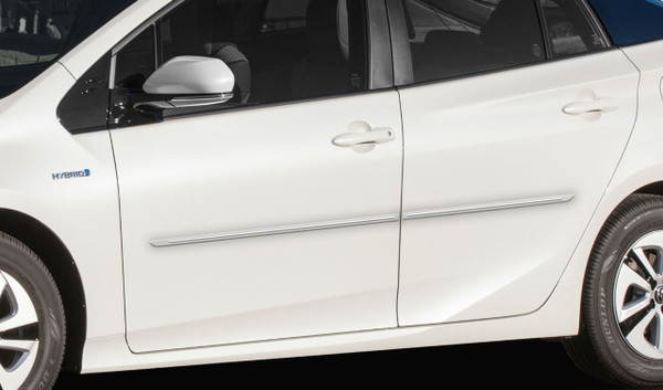 Engraved ChromeLine Body Side Moldings for 2016-2020 Toyota Prius