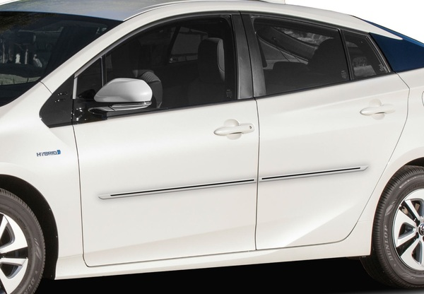 Painted Body Side Moldings With A Color Insert for 2016-2021 Toyota Prius