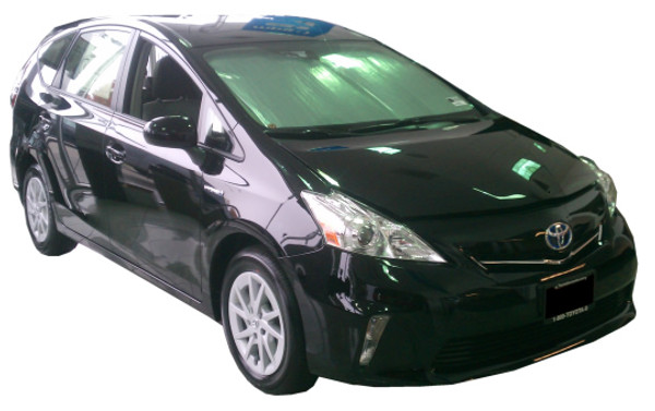 Sunshade HeatShield for 2012-2018 Toyota Prius v - Side Windows
