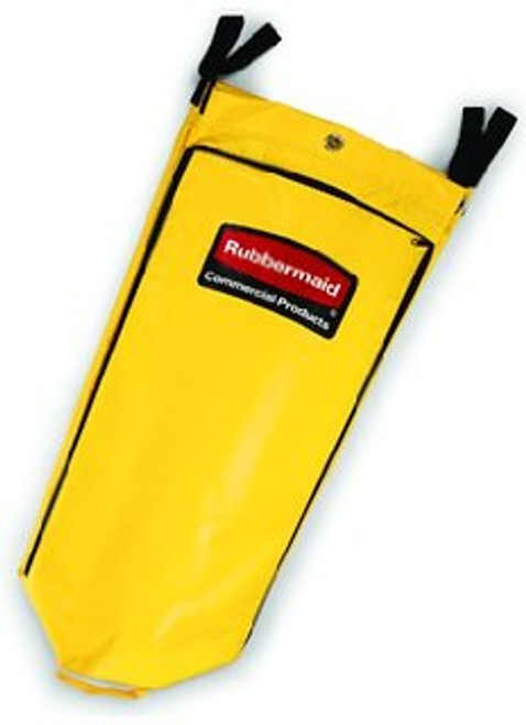 RCP9T80YEL | Vinyl Cleaning Cart Bag, 26gal, Yellow, 17 1/2w x 10 1/2d x 33h