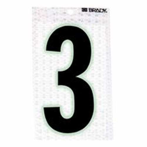 262-3010-3 | Brady Glow-In-The-Dark/Ultra Reflective Numbers