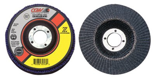 421-31034 | CGW Abrasives Flap Discs, Z-Stainless, Regular