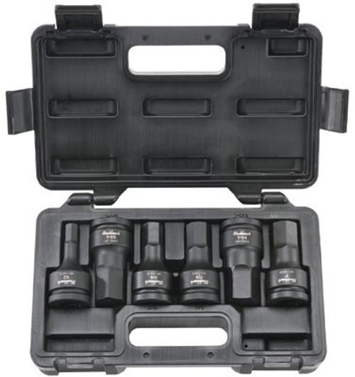 578-UH-3406S | Blackhawk 6 Piece Hex Bit Impact Socket Sets