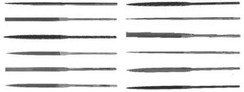 183-37849 | Nicholson X.F Swiss Pattern Thin Rectangular Needle Files