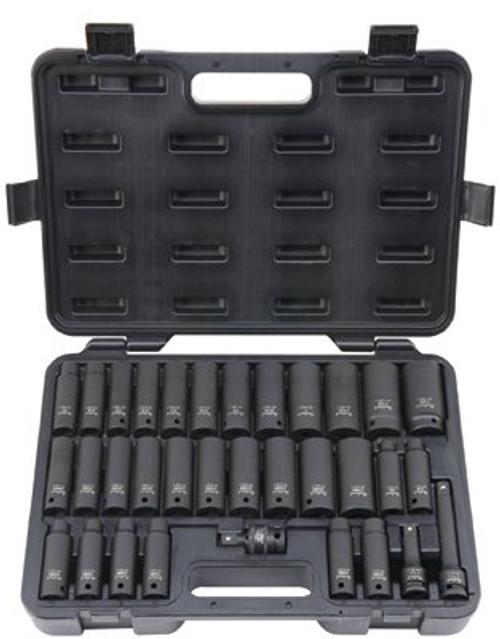 578-UW-533CDS | Blackhawk 33 Piece Deep Impact Socket Sets