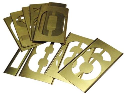 337-10160 | C.H. Hanson Brass Stencil Gothic Style Number Sets