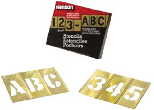 337-10154 | C.H. Hanson Brass Stencil Letter & Number Sets