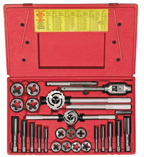 585-98000 | Irwin Hanson 25-pc Fractional Tap & Adjustable / Solid Round Die Sets
