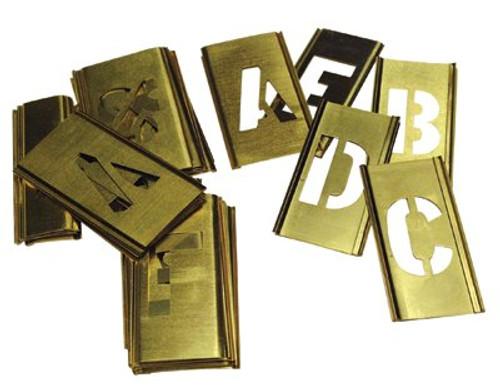 337-10167 | C.H. Hanson Brass Stencil Gothic Style Letter Sets