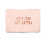 """""""Get On My Level"""" Faux Leather Pouch"""