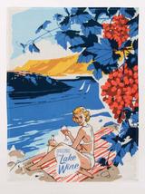 """Greetings From Lake Wine"" Dish Towel"