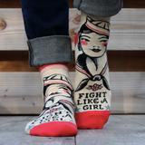 """""""Fight Like A Girl"""" Women's Ankle Socks"""