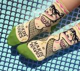 """""""Makin' Waves"""" Women's Ankle Socks"""