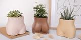 Bottom Body Vase (Walnut Brown)