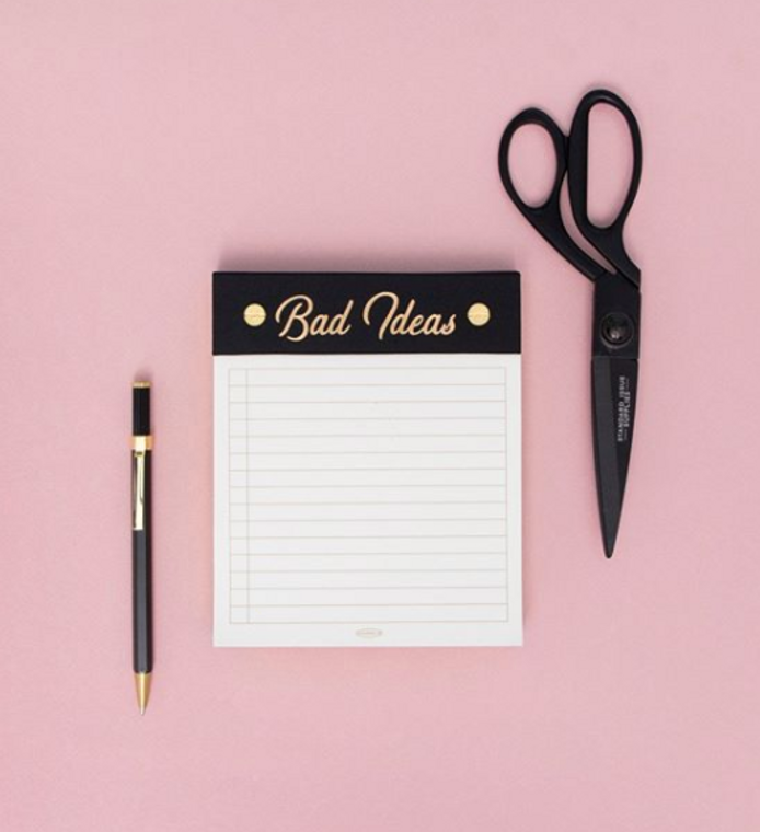 """""""Bad Ideas"""" Post-Bound Note Pad"""