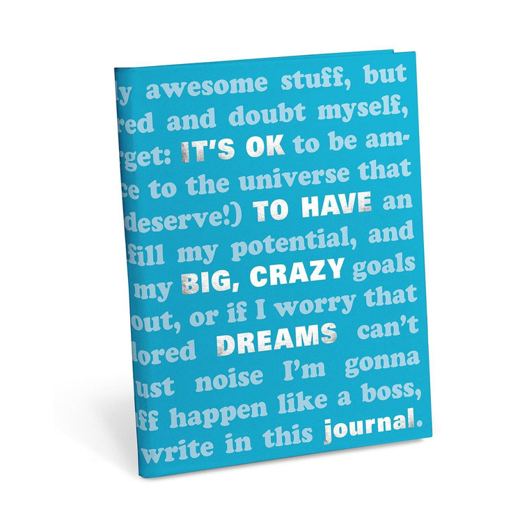 """""""It's Ok To Have Big Crazy Dreams"""" Prompted Journal"""