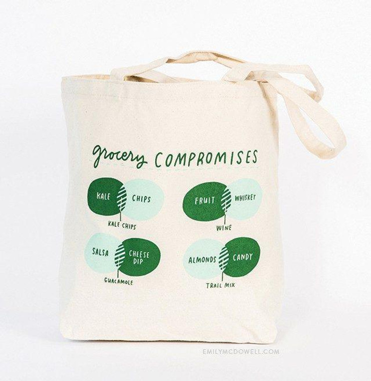 """""""Grocery Compromises"""" Tote Bag"""