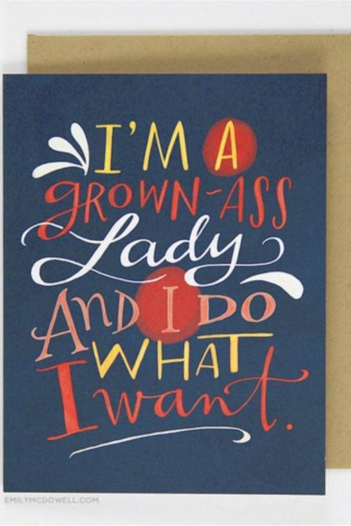 Grown Ass Lady - Support Card