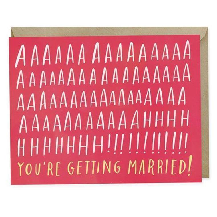 Aah! You're Getting Married - Wedding Card