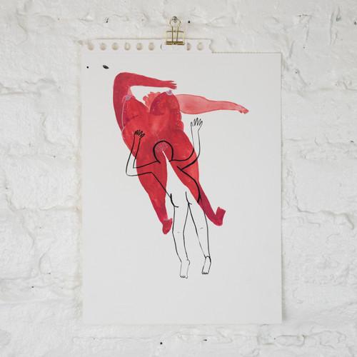 Untitled (Red Woman Cunigingus)