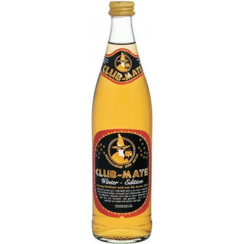 Club Mate, Winter Edition, Large, 500ml, Dublin, Ireland, Club m8, Clubmate, Club-Mate, Vegan, Drink