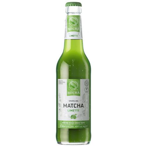 Lime flavoured matcha tea drink