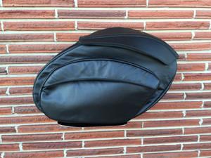 Retro Series V3 Leather Dyna Saddlebags
