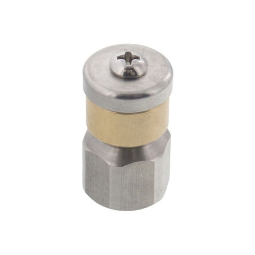 Tool Daily Stainless Steel Fixed Sewer Jet Nozzle 4000 PSI Button Nose 1//4 Inch Female 4.0 Orifice 1//4 Inch
