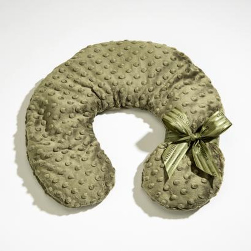 Eucalyptus Green Dot Neck Pillow