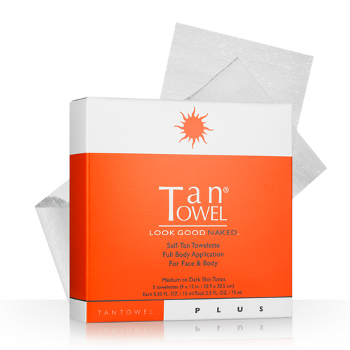 Tan Towel Full Body Plus Self-Tan Towelettes - 5 Pack
